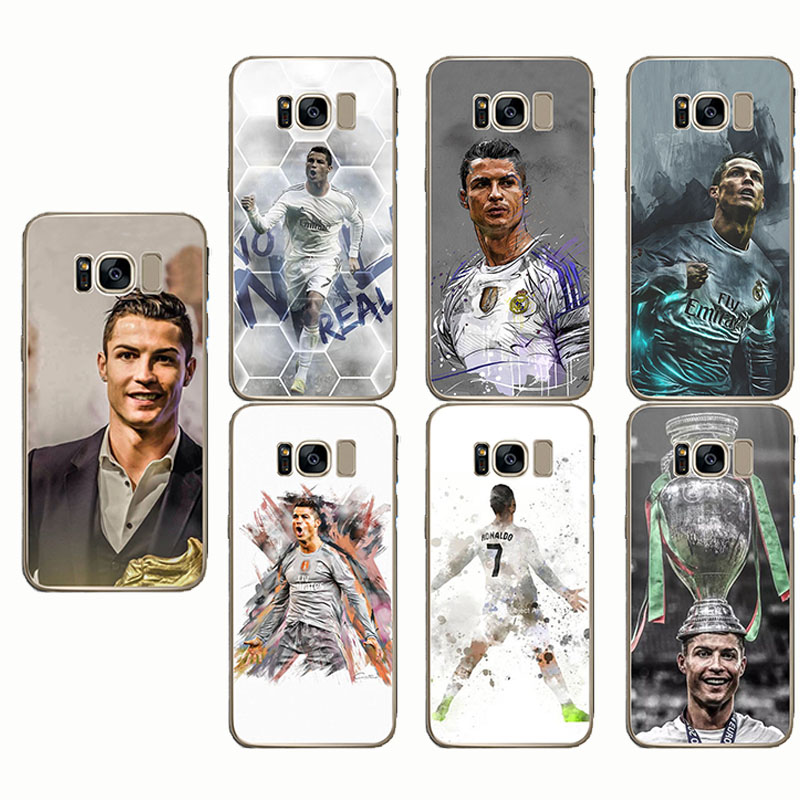 Football Soccer Cristiano Ronaldo Phone Case Cover For for Samsung S6 Note 4 5 8 S6 S7 S8 S9 edge plus in Fitted Cases from Cellphones Telecommunications