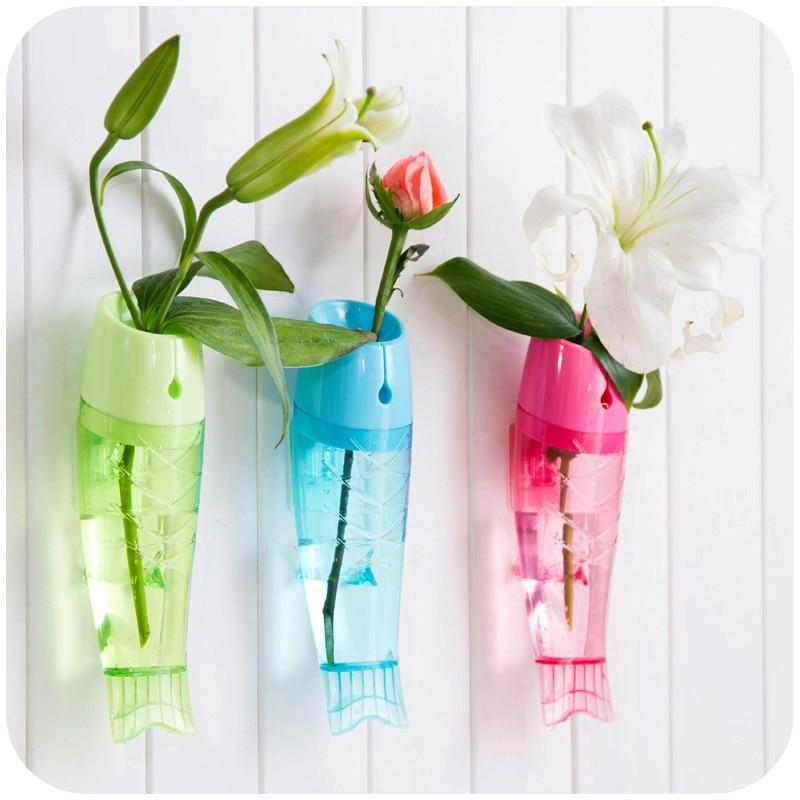 Thee Floral Hollow Flower Vase Decorative Small Plastic Vase Pot