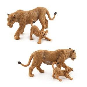 Image 5 - 야생 시뮬레이션 사자 동물 모델 장난감 플라스틱 라이오 네스 동물 피규어 어린이를위한 가정 장식 선물 입상 인형 침실 장식