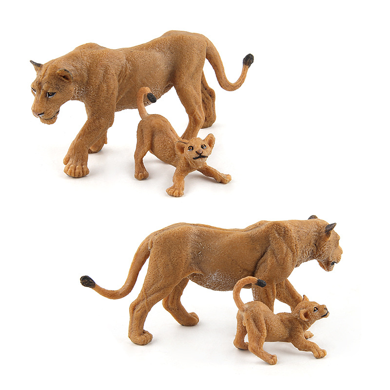Image 5 - Wild Simulation Lion Animal models Toy plastic Lioness Animal figures home decor Gift For Kids figurine dolls Bedroom Decoration-in Action & Toy Figures from Toys & Hobbies