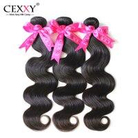 Peruvian Virgin Hair Body Wave 3Bundles 100% Human Hair Weave 6A Peruvian Body Wave Free Shipping Cexxy Hair Company