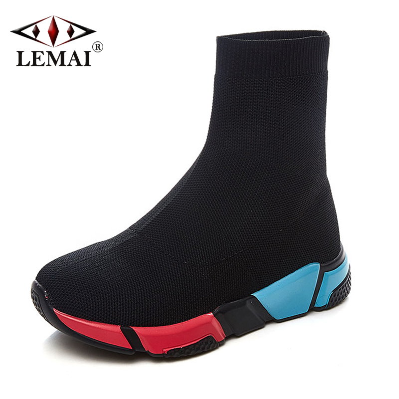 New Women Black Socks Running Shoes Spring Summer Breathable Light Gym Walk Sneakers Comfortable Outdoor Travel Trainers 908 new hot sale children shoes pu leather comfortable breathable running shoes kids led luminous sneakers girls white black pink