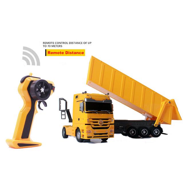RC Truck 1:32 Dumper 10 Wheels Tilting Cart