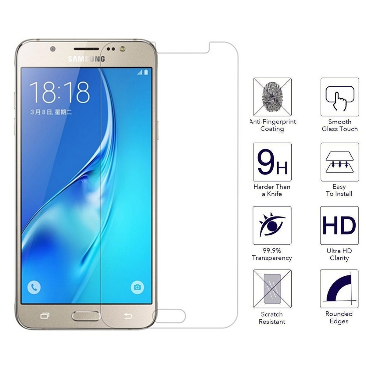 9H 2.5D Screen Protector For Samsung Galaxy J7 Neo Tempered Glass Film For Samsung J7 Nxt J7 Core J701M J701F Screen Glass Cover
