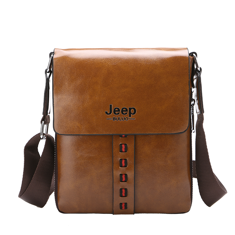 2017 New Jeep Vintage Pu Leather Male Commercial Business Bag Crossbody Men Messenger Bags Casual Shoulder High Quality In From Luggage