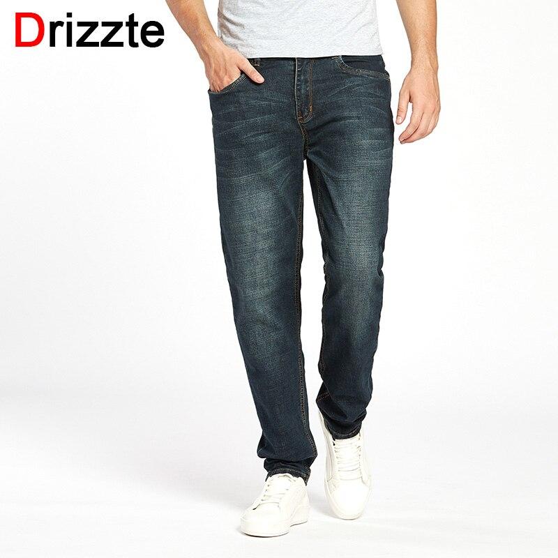 Drizzte Men's Jeans High Stretch Taper Jeans Relax Denim Jean Trousers Pants Plus Size 32 33 34 35 36 38 40 42 44 46 Jean