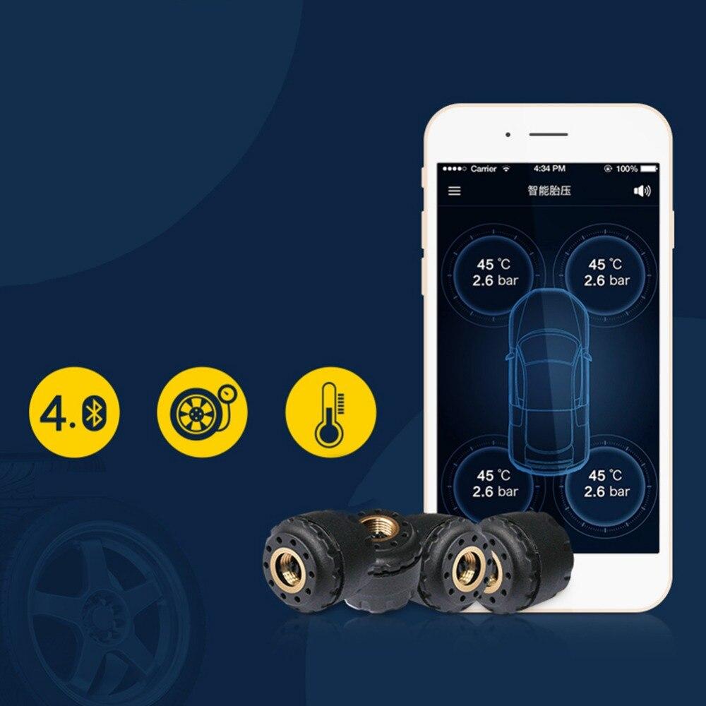 Système d'alarme mains libres Bluetooth TP630 TPMS pression des pneus PSI BAR avec 4 capteurs externes pour iPhone ISO Android