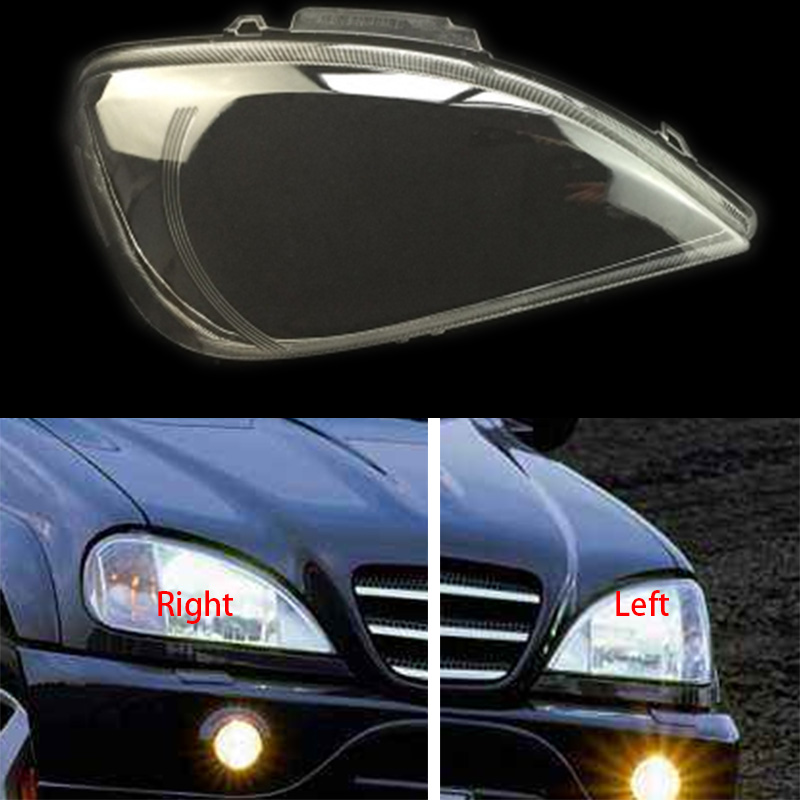 For Benz W163 ML320 ML350 ML500 Front headlights headlights glass mask lamp cover transparent shell lamp masks Mitsubishi Pajero