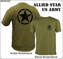 New shubuzhi Hot Summer Casual Printing T Shirt US Army - Allied Star - Hummer - Fans, Offroad Military Tee Shirt(China)