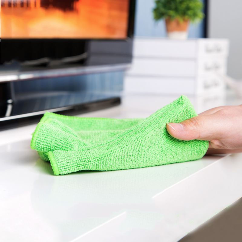 """Image 2 - 16pcs 12""""x12"""" Absorbent Fast Drying Microfiber Towel Micro Fiber Cleaning Cloths Wiping Rags Kitchen Dish Towels Cleaning Rag-in Cleaning Cloths from Home & Garden"""