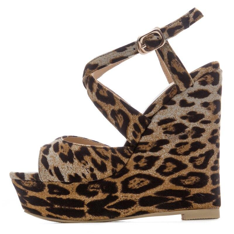 Mode Leopard De Sexy D'été Nouvelles Compensées Sandales Talons Morazora Hauts 34 Chaussures Léopard Grande 41 2018 Taille Tissu Soirée Femmes tQdxosrBhC