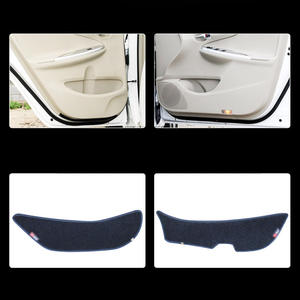 Maite For TOYOTA Avensis Corolla RAV4 4Pcs Door Sill Scuff Plate Welcome Pedal Protect Carbon Fiber Stickers Car Accessories Scratch Protector