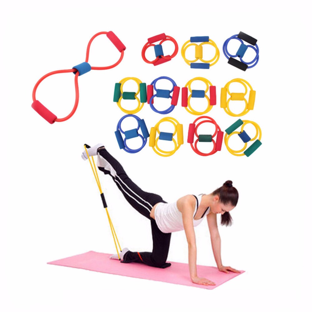 Resistance Stretch Band Yoga Pilates Fitness Muscle Exercise Workout Yellow For Whole And Free Shipping Kylin Sport