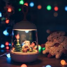 Christmas Musicbox Lights Santa Claus Decoration LED Night Light kids atmosphere desk lamp usb gift novelty lighting motion Lamp