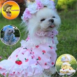 Персонализировать Дизайн ручной работы сезон: весна–лето собака платья арбуз Pet юбка юбки cat Костюмы XS-XL собака одежда