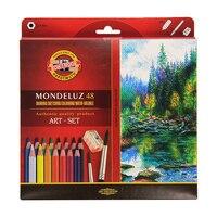 Koh I Noor Mondeluz Aquarell Drawing Set 24 36 48 72 Colored Pencils WaterColor Pencils For