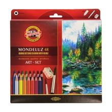Ко-и-Нур Mondeluz Aquarell Набор для рисования. 24 36 48 72 цветные карандаши, акварель карандаши для записи рисунок товары для рукоделия
