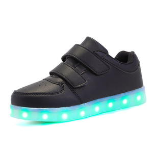 Image 2 - Size 25 37 USB Children Light Shoes Kids Luminous Sneakers for Boys&Girls Led Shoes Krasovki with Backlight Lighted Shoes