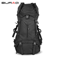 Internal Metal Frame Mountaintop 50L Travel Tactical Backpack Waterproof 600D Polyester Military Molle Bag T0207