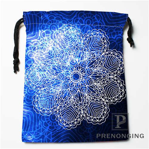 Custom Galaxy Flower Drawstring Bags Printing Fashion Travel Storage Mini  Pouch Swim Hiking Toy Bag Size