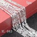 5 ps/package esterlina 925 collar de plata Populares masculina dinero figaro figaro cadena de plata collar de la mujer de plata pura cadena Figaro