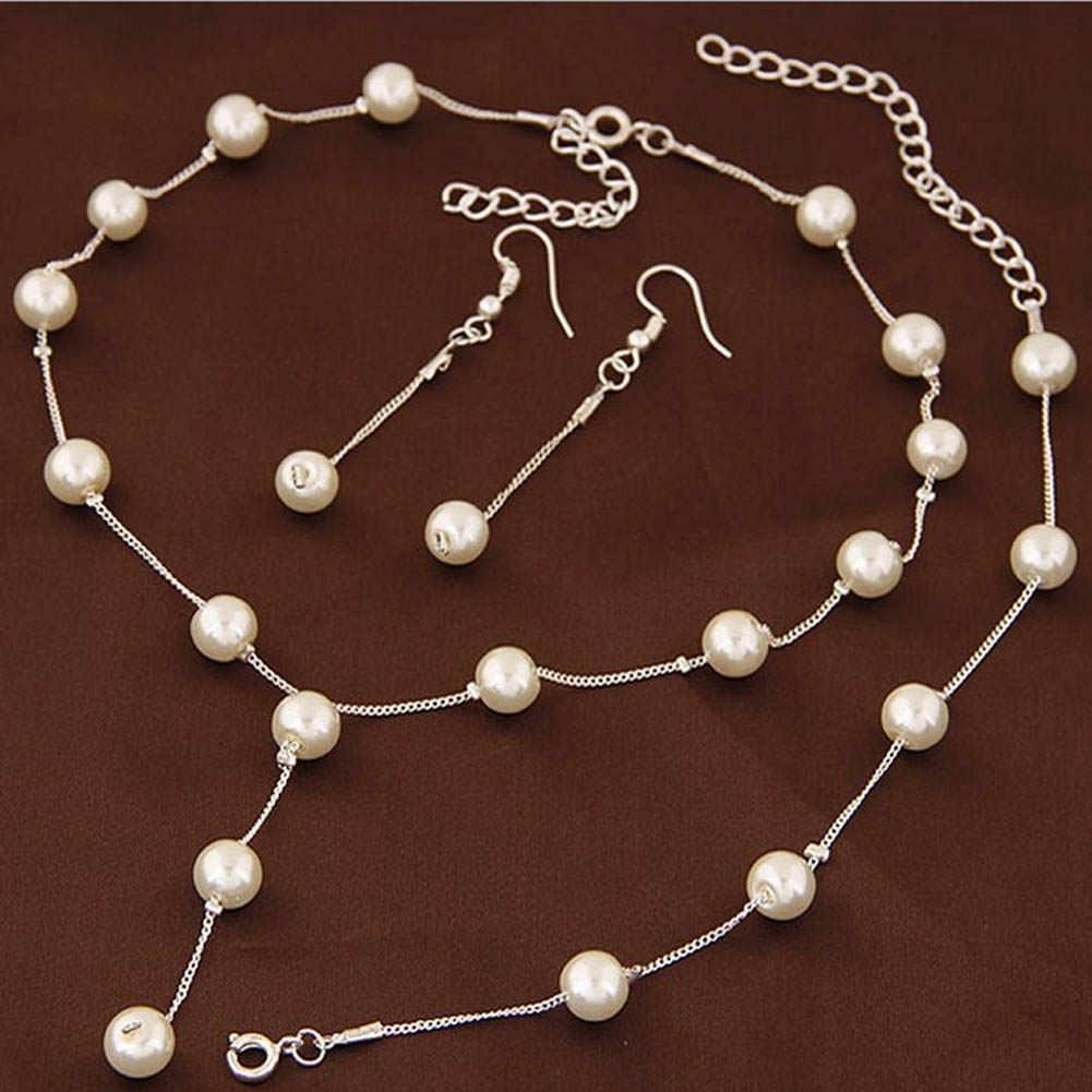 Brand New 2 Color Jewellery Sweet Elegant Women Imitation Pearl