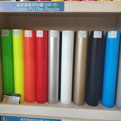 0,5*5 m/rolle (19,68 zoll * 5 yard) farben Glitter Cuttable Pu Flex Vinyl Film Wärme Transfer Papier Vinyl Film für Stoff Jersey