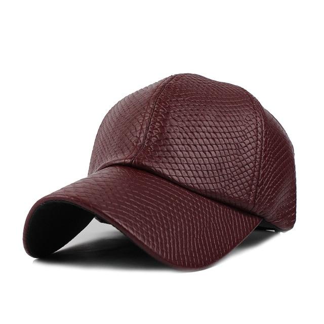 PU Leather Baseball Cap Biker Gorras Trucker Fitted Hats For Men Women  Casquette Snapback 211b5e5f954a