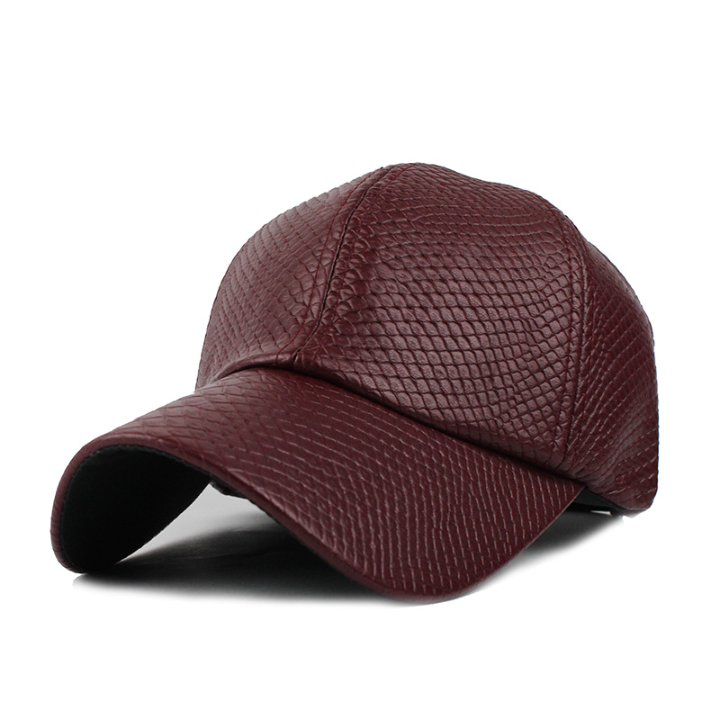fitted brown leather baseball cap caps cool font biker trucker hat