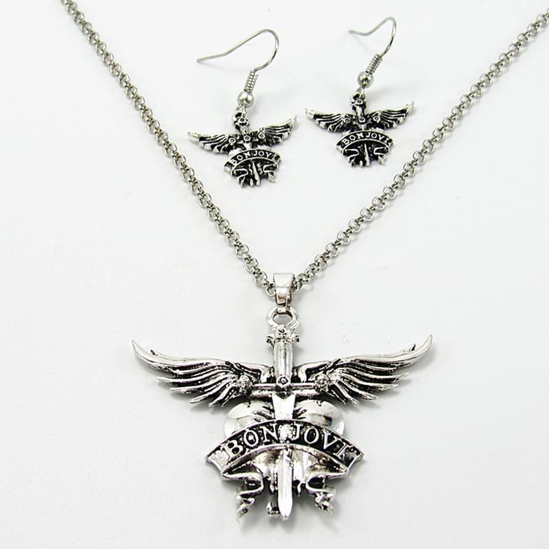 Amerika Bon Jovi rockband kettingen hangers voor mannen vrouwen legering lange ketting hanger ketting beste vriend cadeau