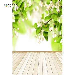 Image 4 - Laeacco Flowers Bokeh Wooden Floor Spring Backdrops Baby Newborn Portrait Photography Backgrounds Photophone Photocall Photozone
