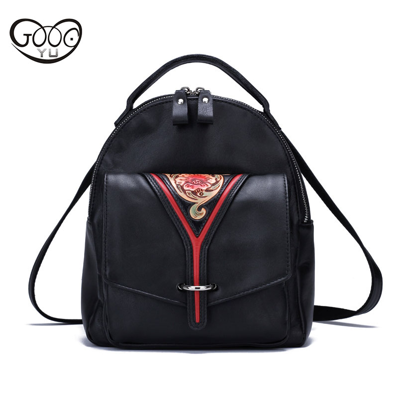 Original hand-made retro shoulder bag new vertical section of the small backpack head layer of leather sculpture leather casual the new retro hand brush color bag head layer leather casual bag messenger bags wholesale