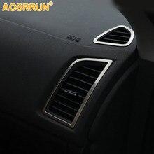 Für Mitsubishi ASX 2018 2011 2012 2013 2014 2016 Auto Zubehör Edelstahl Auto klimaanlage steckdose Abdeckung