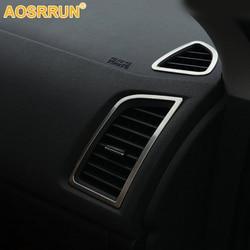 Dla Mitsubishi ASX 2018 2011 2012 2013 2014 2016 akcesoria samochodowe wylot klimatyzacji samochodu ze stali nierdzewnej pokrywa
