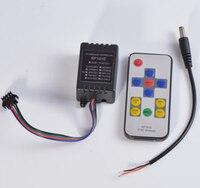 Darmowa wysyłka Mini kontroler rgb SP101E RF kontroler bezprzewodowy WS2811 WS2812B taśmy LED światła zdalnego 5V w Kontrolery RGB od Lampy i oświetlenie na