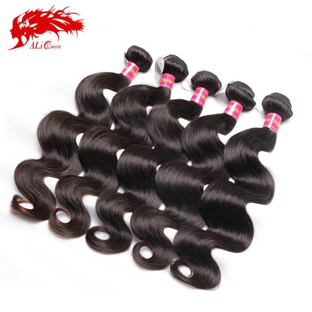 Unprocessed Virgin Brazilian Body Wave Human Hair 5 Pcs Lot ALi Queen Hair Products Brazilian Body Wave