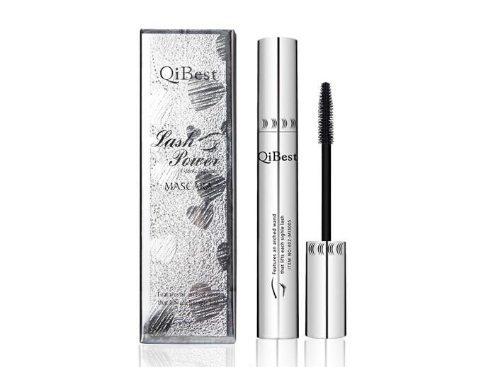 Qibest Eye Mascara Volume false eyelashes Waterproof Silicone Brush curving lengthening rimel 3D colossal mascara AE003 in Mascara from Beauty Health