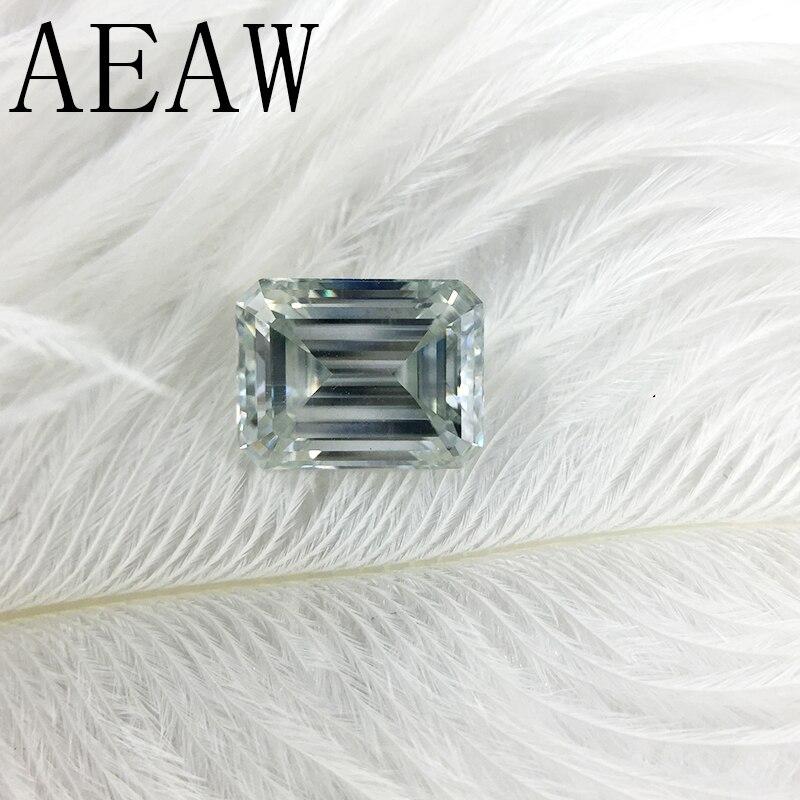 AEAW 3 Carat 7x9mm Bleu Clair Couleur Certifié Homme Fait Diamant Lâche Émeraude Moissanite Perle Test Positif comme Vrai Diamant