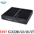 Partaker H87 Core i7 i5 i3 4150 Т 4671 Т 4770 Т Mini PC Windows HDMI + VGA Mini PC i3 i5 Безвентиляторный minipc 4 К HTPC Intel HD Graphics PC