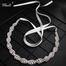 Miallo 2019 Newest Full Crystal Wedding Women Belts & Sashes Bridal Dress Accessories Skinny Sashes for Bride Bridesmaids