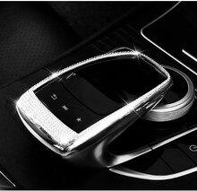 Автомобильный Управление мыши Touchpad рамка украшения чехол стикер автомобиля-Стайлинг для Mercedes Benz GLC C E класс W205 W213 C200 E200 et