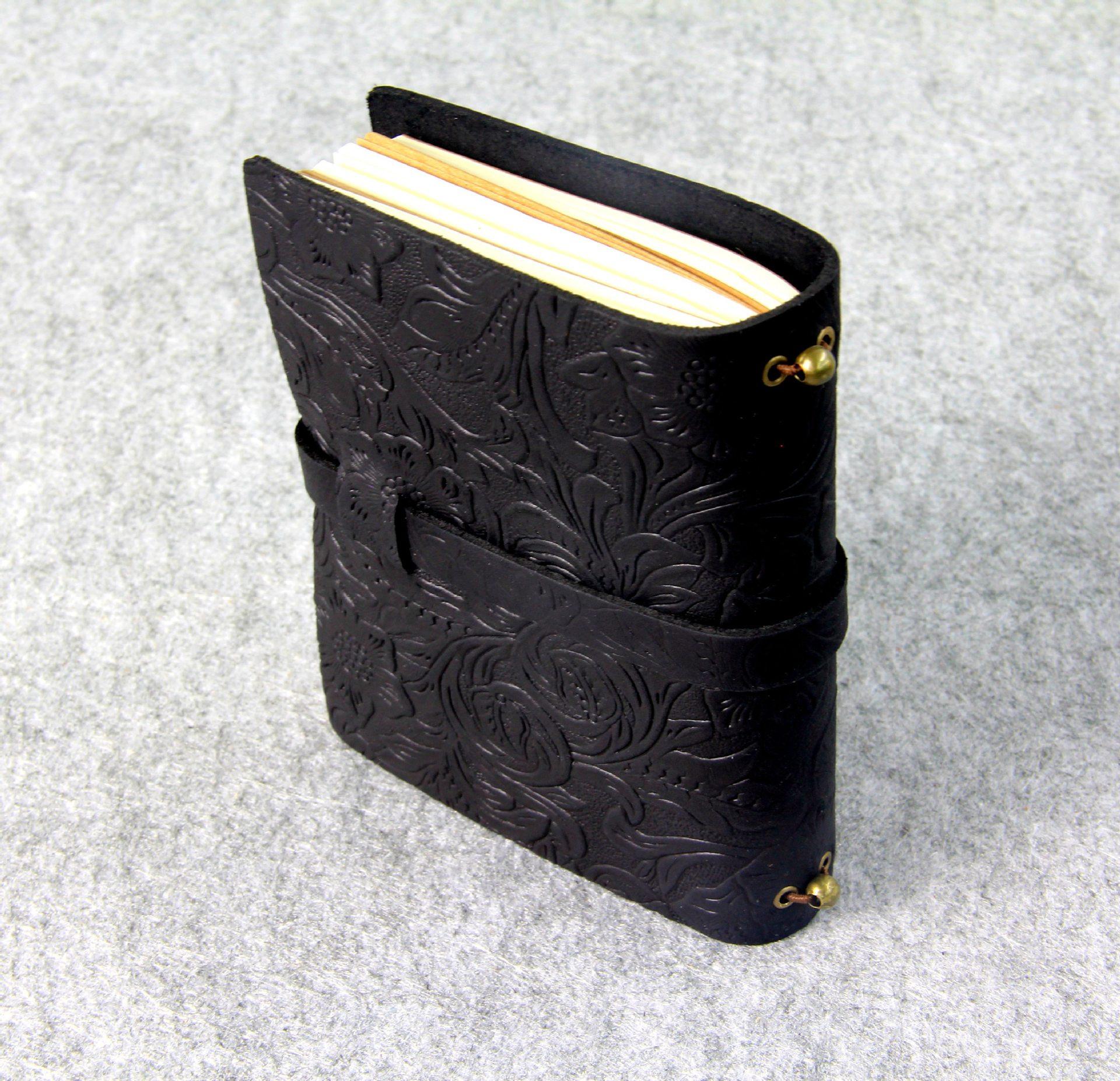 Äkta läder Notebook resenärer Journal Agenda Handgjorda Planner - Block och anteckningsböcker - Foto 2