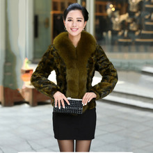 100% real mink fur jacket with big fox fur collar colorful natural fur coat new arrive woman outwear china low price overcoat