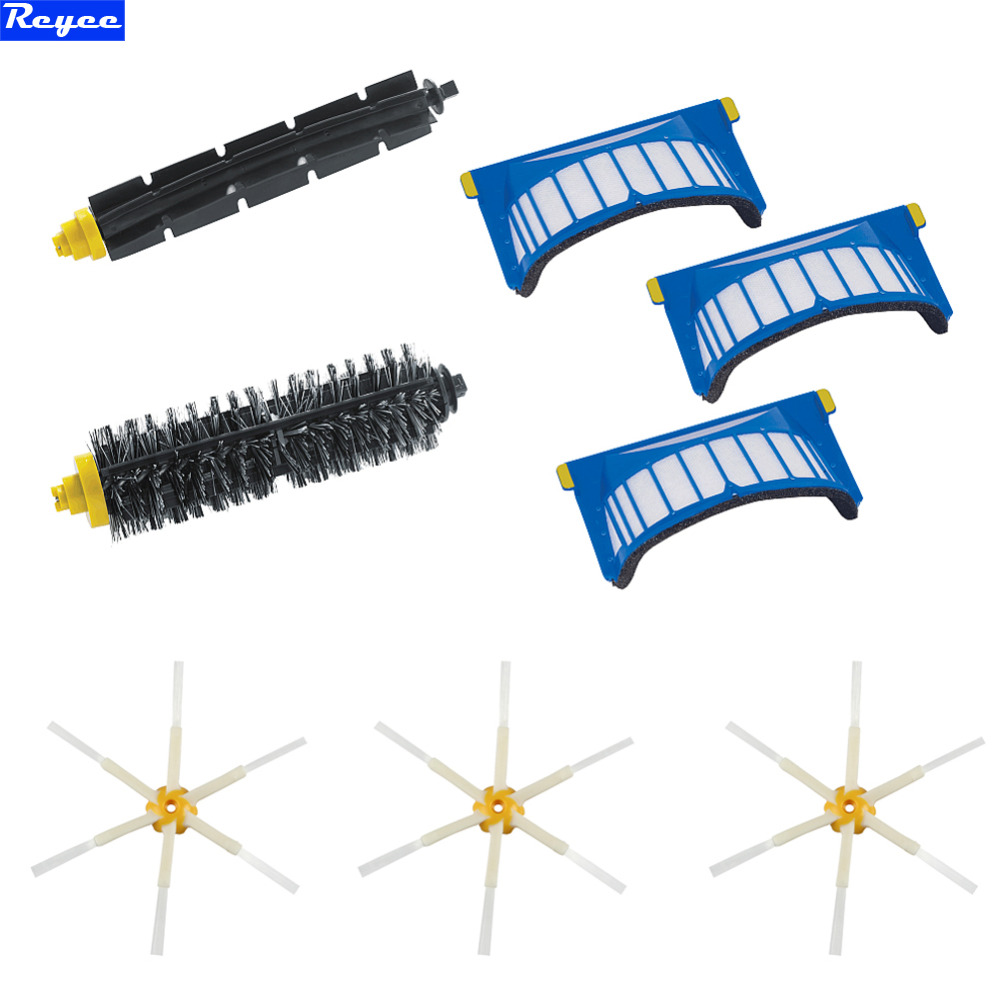 2017 Cheapest AeroVac Filter SideBrushes Bristle and Flexible Beater Brush Combo for iRobot Roomba 600 610 620 625 630 650 660 bristle brush flexible beater brush fit for irobot roomba 500 600 700 series 550 650 660 760 770 780 790 vacuum cleaner parts