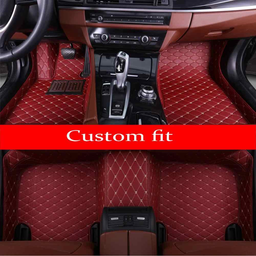 Auto vloermatten gemaakt voor Hyundai Rohens Genesis Coupe Tucson ix35 Elantra anti-slip auto styling case tapijten tapijt liners