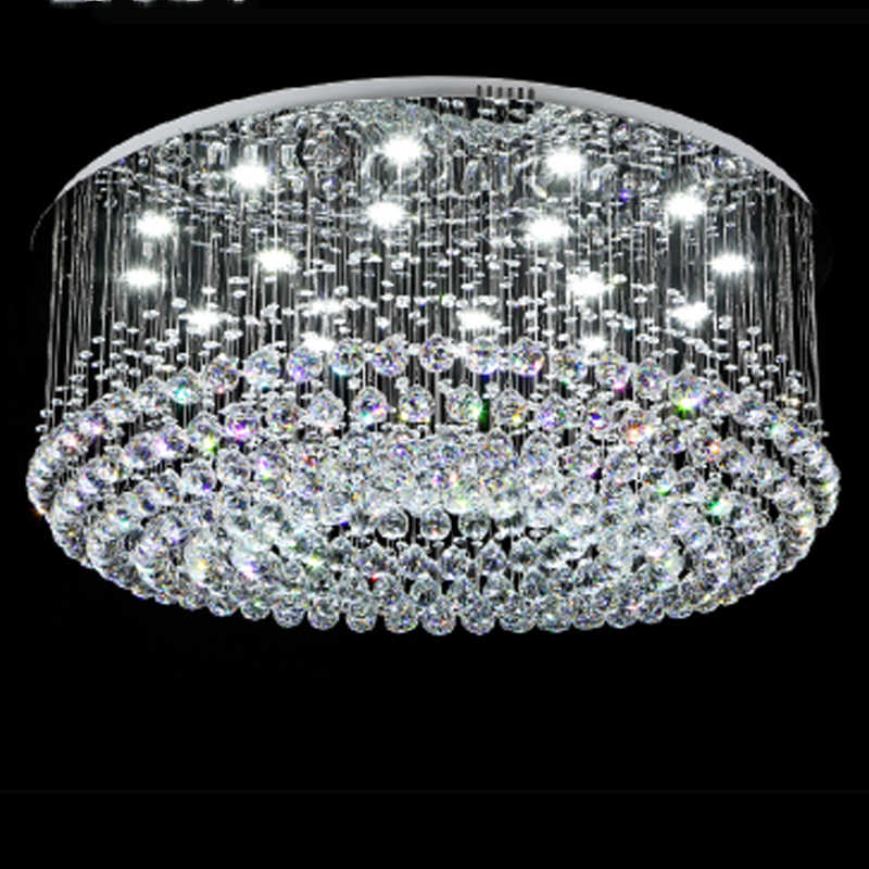 SGROW Modern Crystal Chandeliers Ceiling Lamp Lighting Fixtures for Living Room Bedroom Hotel Round LED Lampara Luminaire Lustre