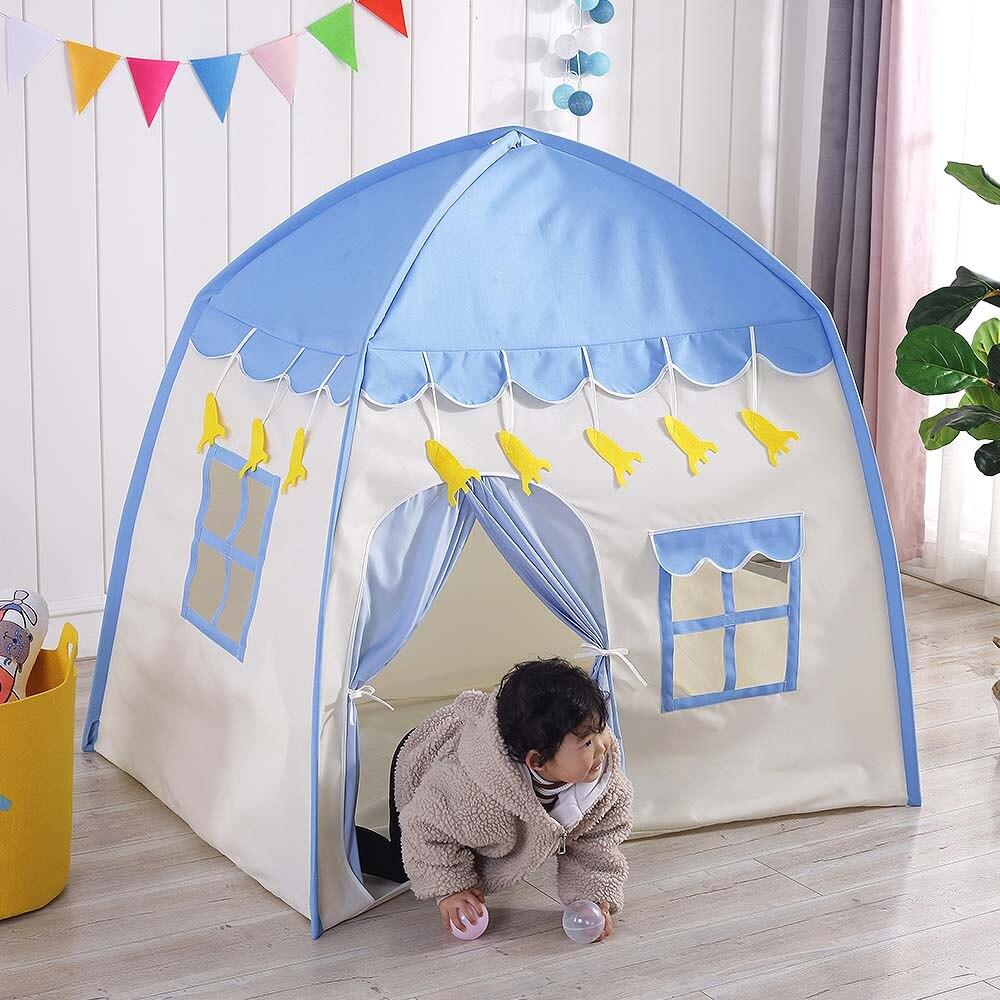 Tente de tipi pour enfants jouer tente enfants Fort toile auvent Portable Playhouse pour jeux de plein air intérieur dropshipping