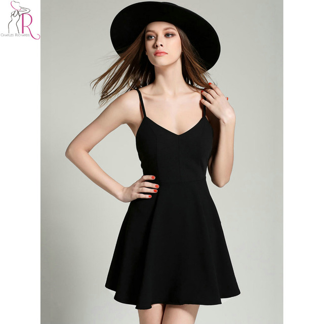 Strap Backless Mini Skater Dress Sleeveless Casual Sexy Clubweare