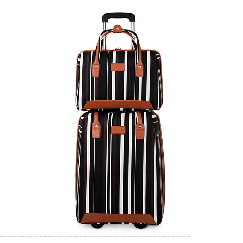 Letrend Women Oxford Rolling Luggage Set Casters Travel Bag Wheel Suitcase 20 inch Carry On Trolley Korea Womens HandbagLetrend Women Oxford Rolling Luggage Set Casters Travel Bag Wheel Suitcase 20 inch Carry On Trolley Korea Womens Handbag