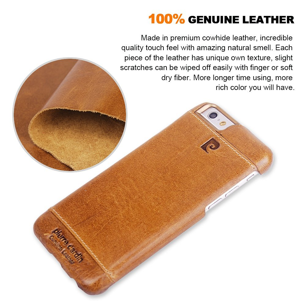 bilder für Echtes Leder Für iPhone 6/6 S/6 S Plus Luxus Marke Original Pierre Cardin Fashion Ultra Thin Schlank Abdeckung Fall für Iphone 6 6 s